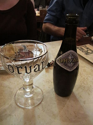 Orval Brewery - Orval Trappist Ale bottle with traditional glass