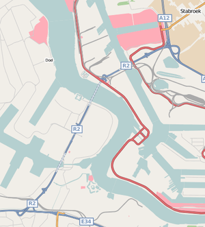 Liefkenshoektunnel - Route of the tunnel on the north-western edge of Antwerp