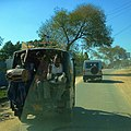 Overcrowded rickshaw in Uttar Pradesh, India, 2013-03 (11552189535).jpg