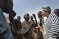 Oxfam Novib Executive Director Farah Karimi meets with people living inside UN House, Juba. (12608480555).jpg