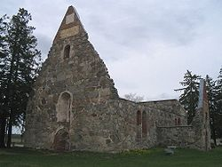 Ruins of the medieval church in Pälkäne