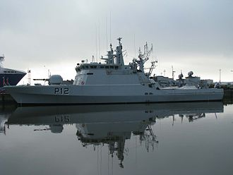 Lithuanian Armed Forces - Lithuanian Naval Force Flyvefisken class ship P12 Dzukas