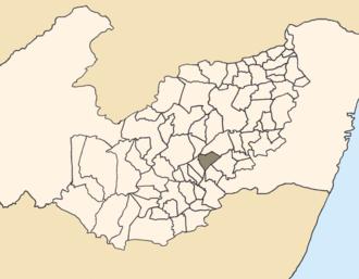 Ibirajuba - Location of Ibirajuba within Pernambuco.