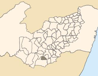 Terezinha - Location of Terezinha within Pernambuco.
