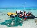 PMNM - Hauling derelict fishing nets (33963796612).jpg