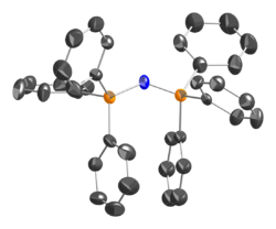 thermal ellipsoid model the bis(triphenylphosphine)iminium cation