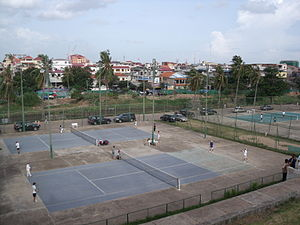Phnom Penh Olympic Stadium - Tennis courts at the Olympic Stadium