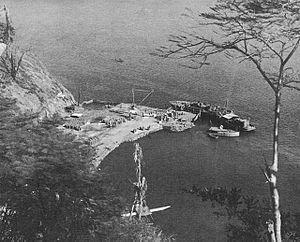 Morton C. Mumma - The PT boat jetty at Tufi.