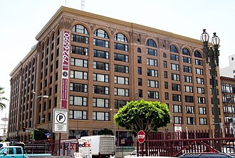 Pacific Electric Building - Pacific Electric Building is on the National Register of Historic Places. 2009 photo.