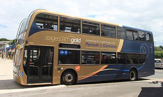 Stagecoach Gold - Stagecoach South West Alexander Dennis Enviro400 bodied Scania N230UD at Paignton Bus Station in July 2014
