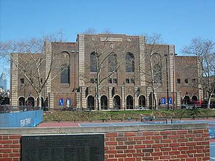 Built in 1927, Penn's Palestra is shown around 2006 Palestra.jpg