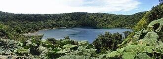 Poás Volcano - Image: Panorama 2 Botos Lake (Crater), Poas Volcano Ntl Park CRI 08 2009