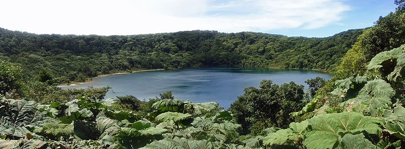Lake Botos is an inactive crater located in the Poás Volcano National Park, Costa Rica.