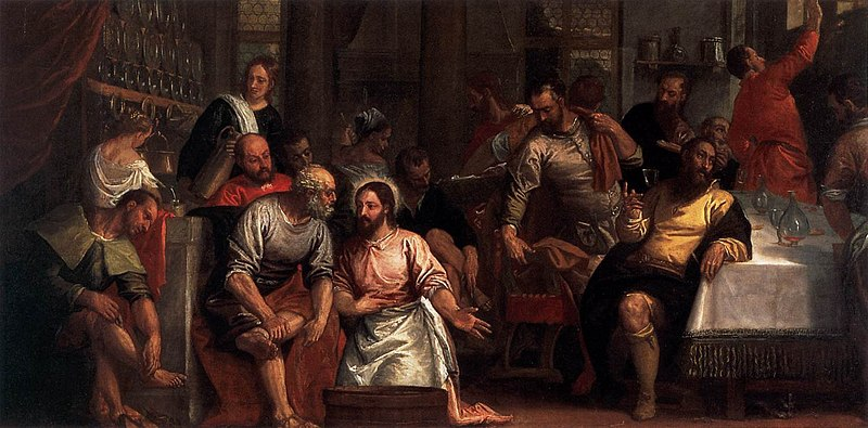 File:Paolo Veronese - Christ Washing the Feet of the Disciples - WGA24846.jpg