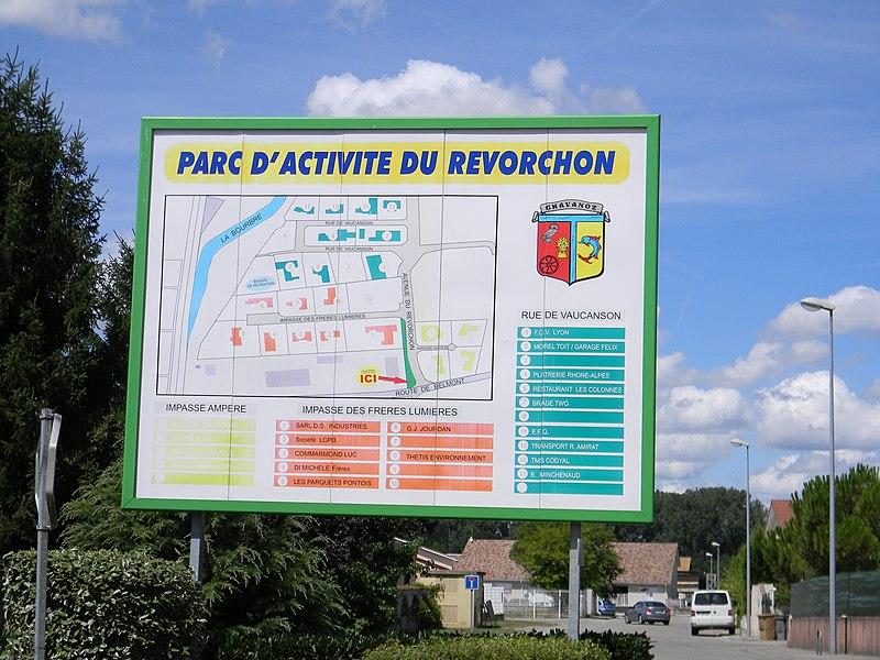 Parc d'activité du Revorchon à Chavanoz.