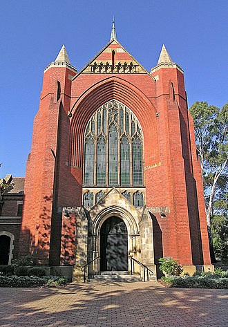 Trinity College (University of Melbourne) - Horsfall Chapel from Royal Parade