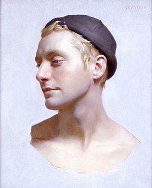 "Graydon Parrish - Sean, by Graydon Parrish 15""x18"", oil on panel"