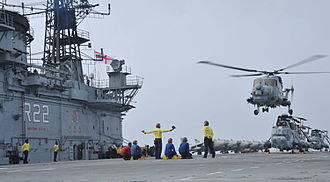 Indian Navy - Sea King helicopters operating aboard INS Viraat