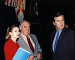 Patricia Clements with Claude Kirk and Jeb Bush.jpg