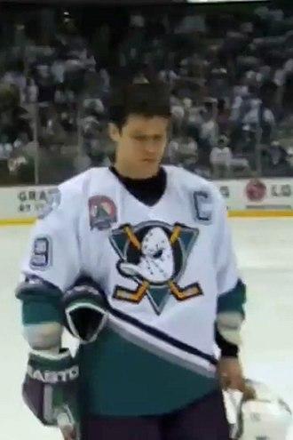 Paul Kariya - Kariya during the 2003 Stanley Cup Finals.