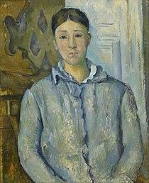 Paul Cézanne - Madame Cézanne in Blue - Google Art Project.jpg