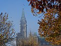 Peace Tower in fog Ottawa 2010.jpg