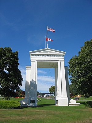 United States side of the Peace Arch monument....