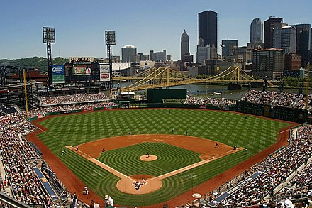 PNC Park, home of the Pittsburgh Pirates Pedro goes to Pittsburgh.jpg