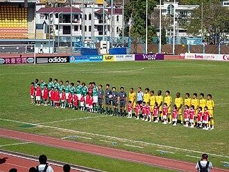 Tai Po Sports Ground - Tai Po hosts TSW Pegasus at Tai Po Sports Ground in a 2008-09 Hong Kong First Division League game.