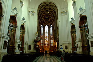 Cathedral of St. Peter and Paul, Brno - Interior of the Cathedral.