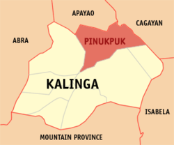 Map of Kalinga with Pinukpuk highlighted