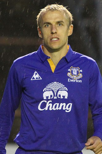 Phil Neville - Neville playing for Everton F.C. in 2011