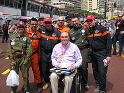 Philippe Streiff and marshals at Monaco GP 2010.jpg