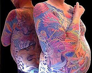 Body suit (tattoo) - Phoenix full sleeve tattoo.