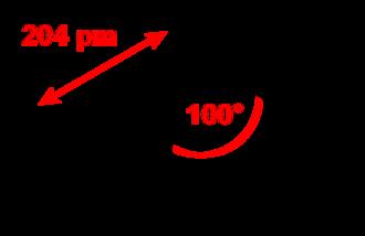 Phosphorus trichloride - Image: Phosphorus trichloride 2D dimensions