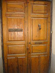Photography by David Adam Kess, España, Aranda de Duero, Hand Carved Wooden Door, pic.bbb0.jpg