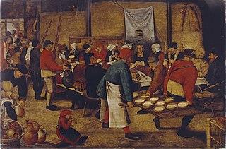 Peasant Wedding in a Barn