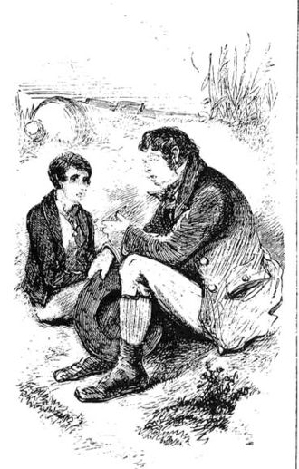 Pip (Great Expectations) - Pip and Joe sitting on the marshes, by John McLenan