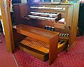 Pipe organ console, Bethel Evangelical Presbyterian Church, Enon Valley, Pennsylvania.jpg