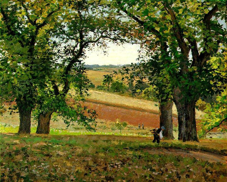 File:Pissarro, Camille, Les chataigniers a Osny (The Chestnut Trees at Osny), 1873.jpg