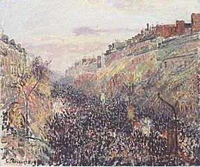 Boulevard Montmartre, Mardi Gras (fastelavns-tirsdag), solnedgang