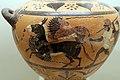 Pittore di busiride, hydria della classe delle idrie ceretane, prodotta da artigiani ioni a cerveteri, 530-520 ac ca. 02 pantera e leonessa attaccano mulo.jpg