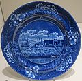 Plate with 'Landing of Gen. Lafayette at Castle Garden' manufactured by James and Ralph Clews, Dayton Art Institute.JPG