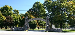 Plymouth, Indiana - Centennial Park on N. Michigan Street (SR 17)