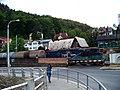 Podmokly, Červený Vrch, z mostu, vlak Unipetrol.jpg