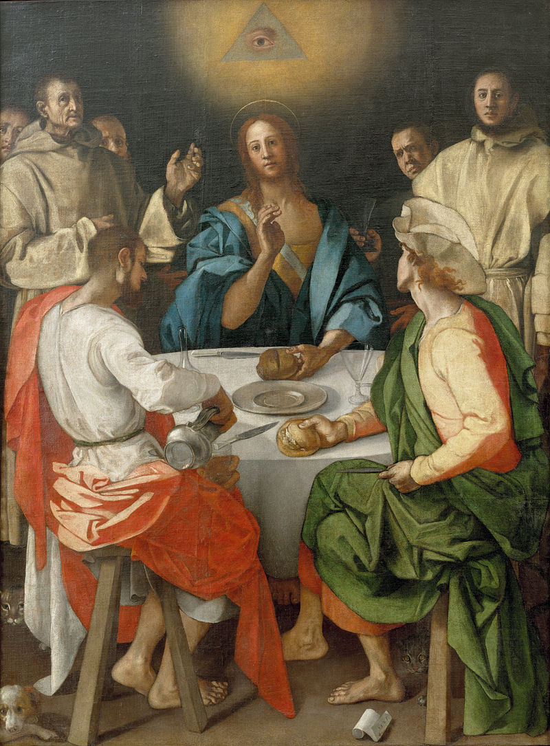 Δείπνο στους Εμμαούς (Jacopo Pontormo, 1525, Πινακοθήκη Ufizzi της Φλωρεντίας)