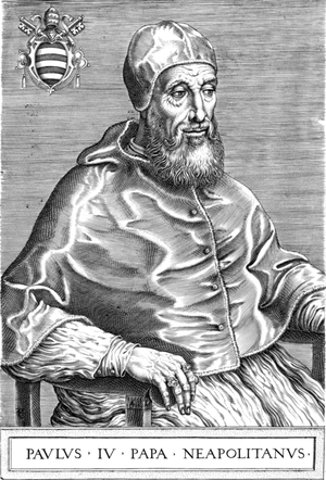 Papal conclave, May 1555 - Image: Pope Paul IV