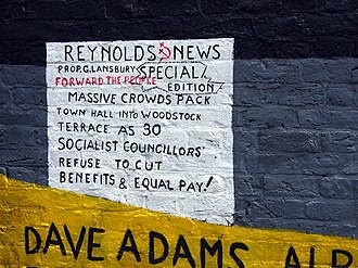 Poplar Rates Rebellion - Image: Poplar rates rebellion mural, detail geograph.org.uk 866114
