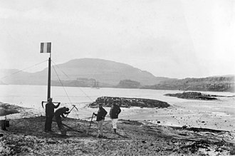 Kerguelen Islands - French sailors officially reasserting possession of the Islands on 8 January 1893