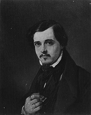 Charles Baugniet - Portrait of Charles Baugniet by Louis Gallait (1837)
